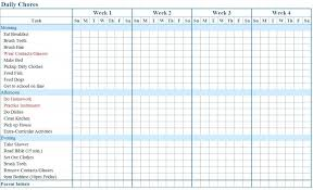 Chore Chart Samples Chore Chart Samples House Chores Schedule Template Household