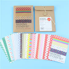 Labelling Art 27 Pcs Scrapbooking Masking Tape Craft Stickers Pack Decorative