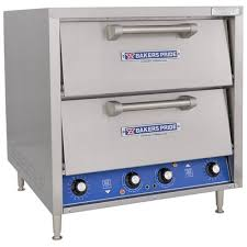 bakers pride dp 2 electric countertop pizza oven 2 independent chambers four decks all purpose commercial fibrament deck baking chamber