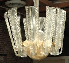 italian art deco murano chandelier in excellent condition for in los angeles ca