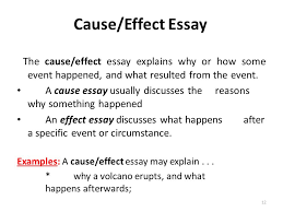 types of essays lecture recap i what is an outline a  the cause effect essay explains why or how some event happened and what resulted
