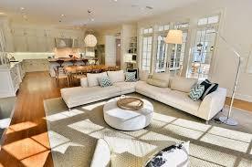 open space living room plan