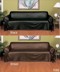 Brilliant Sofa Covers For Leather Sofas Couch Slip Cover Genius Decorating