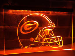 la239 green bay packers helmet led neon light sign home decor crafts