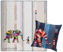 Elephant and I Quilt and Pillow Pattern &  Adamdwight.com