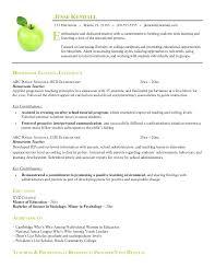 Resume Templates Teachers Resume Template For Teaching Job