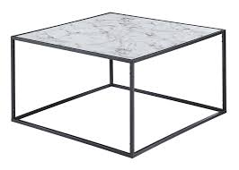 gold coast faux marble coffee table in faux marble black convenience concepts 413482bl