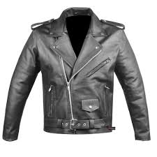 details about men s classic leather motorcycle jacket biker style chopper police coat