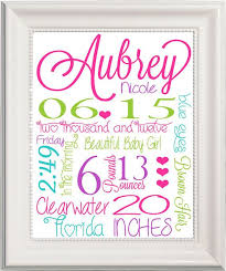 birth stats personalized baby name wall art customizable pink text letters modern contemporary green nursery on personalized wall art for baby with wall art design ideas birth stats personalized baby name wall art