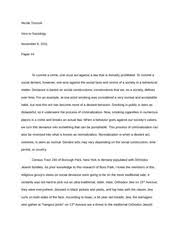 sociological imagination essay nicole troccoli introductory  4 pages social laws and deviance essay