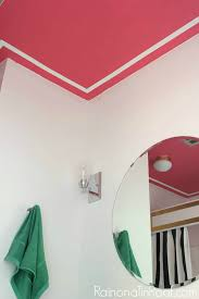 pink and white trim painted ceiling design painted ceiling designs tips for painting ceilings