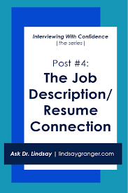 IWC #4: The Job Description/Resume Connection | Learn about how to mine