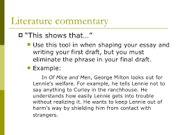 what is commentary literature commentary