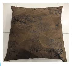 suede leather cushion