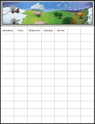 Free Printable School Charts Sunday School Attendance Chart Printable Www