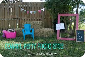 Cowgirl Birthday Decorations Cowgirl Birthday Party Ideas Coffee Cups And Crayons