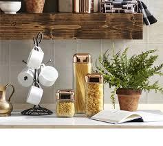 honey can do square glass storage jar set set of 3 rose