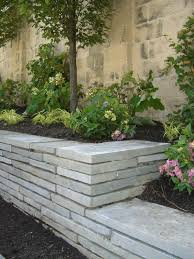 floating flagstone retaining wall
