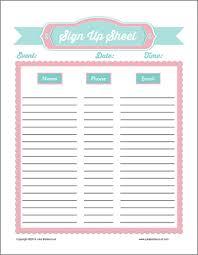 Free Printable Sign Up Sheets Prayer Sign Up Sheets Signs