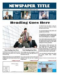 Creating A Newspaper Template Print Newspapers Or Publish Online Makemynewspaper