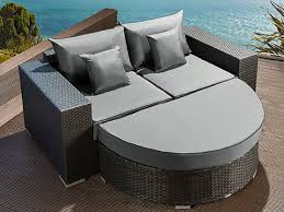 sectional outdoor wicker rattan loungers patio sunbed daybeds
