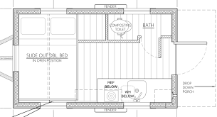 salsa box tiny house floor plan in plans