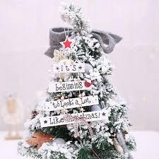 1 Stück Weihnachten Holz Anhänger Christbaumschmuck Hängen