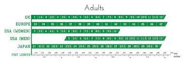 Ballroom Dance Shoe Size Chart