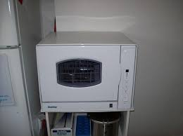 image of danby countertop dishwasher with stand