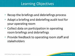 Sample Operating Room Nurse Charting Auditing Your Briefings And Debriefings Process Facilitator