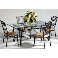 Iron Wood Dining Table Have To Have It Chintaly Bethel 5 Piece Rectangular Wrought Iron