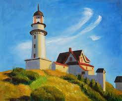 edward hopper lighthouse at two lights hand painted oil painting on canvas edward hopper