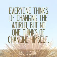 Leo Tolstoy's Infamous Quote On Changing The World [Quote Graphic] Beauteous Quotes About Changing The World