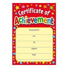 Achievement Certificate Certificate Of Achievement Mini Certificates