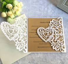 Elegant Invitation Cards Sweethearts Laser Cut Wedding Invitations Pocket Hollow Out Groom Bride Elegant Invitation Cards With Envelope Inserts Wholesale Price Marriage