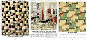 geometric linoleum patterns and a kitchen design using armstrong linoleum flooring