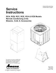 Evaporator Coil Sizing Chart Amana C Model Specifications Manualzz Com