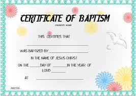 Baptism Certificate Template Under Fontanacountryinn Com