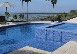 Pool with Glass Tile Interior