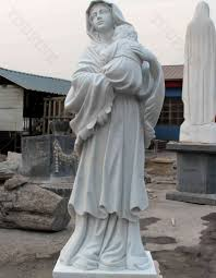 outdoor high quality white marble catholic statues our lady of grace statue mary with statue