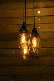 mason ball jar chandelier light primitive farm country western kitchen patio