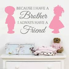 Up 2 Color Brother Sister Love Friends Vinyl Quotes Wall Decals Stickers Art Home Decor Kid Nursery Room Mural Kw 256