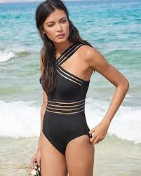 Kenneth Cole Plus Size Swimwear Size Chart Kenneth Cole Stiletto High Neck Mio Swimsuit One Piece