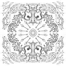 Ornament Ronde Mandala Zwartwit Doodle Vectorillustratie Kleurboek