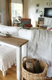 the easiest diy dipped sofa table using reclaimed wood city farmhouse