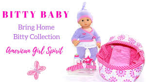 american girl bitty baby doll bring home bitty collection unboxing review