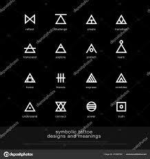 Symbolické Tetování Design Význam Minimalistická Grafika Tetování