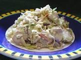 asian style chicken ramen dinner cole slaw