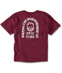 spitfire hoodie kids. spitfire steady rockin boys burgundy t-shirt hoodie kids