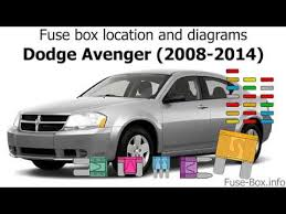 2013 Dodge Avenger Fuse Chart Fuse Box Location And Diagrams Dodge Avenger 2008 2014